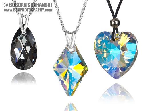 Бижута - продуктова фотография на кристали Сваровски