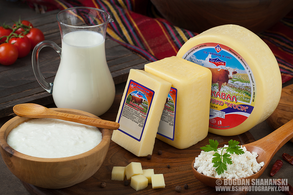 Кулинарна Рекламна Фотография © Богдан Шахънски ; Клиент: Млечни продукти ,,Огоста''